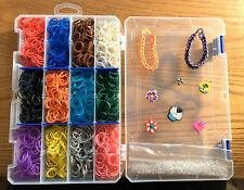 Rainbow Loom Refill Organizer/Charms/Clips/Bracelets/Thousands of Rubber Bands