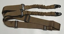 """Rifle Sling - Tactical Quick Release Bungee 2 Point Coyote Tan Adjustable 60""""+"""