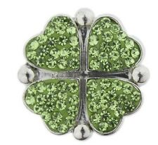 Snap button Four leaf clover18mm Cabochon chunk charm