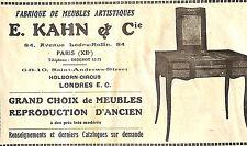 LONDON HOLBORN-CIRCUS PARIS PUBLICITE ETS KAHN FABRIQUE DE MEUBLES 1930