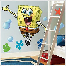SPONGEBOB SQUAREPANTS wall stickers MURAL 19 decals bubbles 38 inches tall