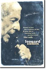 Leonard Cohen Art Print 2 Foto Afiche Regalo citar