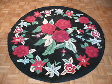 6 Ft Round Dhurry From India