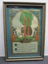 MOTHER MOTTO CELLUOID PRINT FRAMED WITH GLASS
