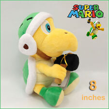 Hammer Bro Super Mario Bros Green Koopa Troopa Plush Toy Doll Stuffed Animal 8""