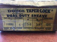 Dodge Taper Lock Dual Duty Sheave Pulley #118001 or #498197