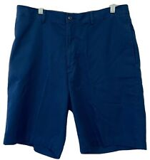 PGA Tour golf shorts flat front blue size 34 athletic