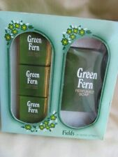 VINTAGE FIELDS OF BOND STREET GREEN FERN SOAP & BATH CUBES GIFT SET