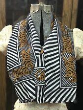 Beau Millésime bleu, blanc, et orange tigre design rayé écharpe