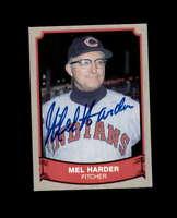 Mel Harder Signed 1989 Pacific Baseball Legends Cleveland Indians Autograph