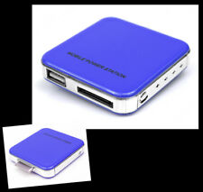 2200MAH PORTABLE EXTERNAL BLUE BATTERY CHARGER USB IPHONE 4S 4 3GS IPOD NANO