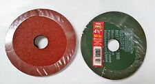 "4-1/2"" x 7/8"" Fiber Resin Sanding Disc Aluminum Oxide 80 Grit, Mibro, 50 Discs"