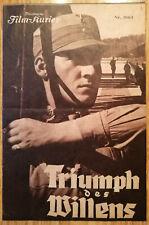 """Filmprogramm  Leni Riefenstahl  """"Triumph des Willens"""""""