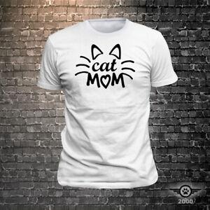 Cat Mom - Cool Cat T-Shirt - FunWear T-Shirts - Mens / Womens Unisex