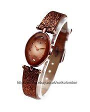 Omax Ladies Sunburst Bronze Cut Glass Watch, Seiko (Japan) Movt. RRP £49.99