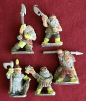 Alternative Armies - Dwarfish Hosts - DH5 Dwarf Polearms x5 - Pre Slotta