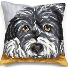 COLLECTION D'Art Bearded Collie trama grossa Cuscino Punto Croce Kit Anteriore 40x40cm