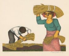 """Jorge Dumas (Argentina 1928-1985)  Color  Lithograph-Signed & Numbered """"Cosecha"""""""