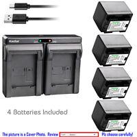 Kastar Battery Slim Dual Charger for Canon BP-727 CG-700 Canon VIXIA HF R600