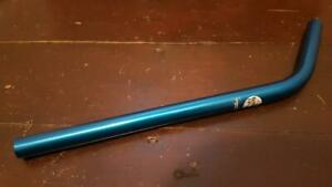 NOS BMX RENTHAL LAYBACK SEAT POST 22.2mm ANODIZED BLUE ALUMINUM OLD SCHOOL