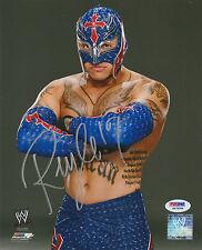 REY MYSTERIO SIGNED AUTO'D 8X10 PHOTO PSA/DNA COA WWE ECW WCW AAA LUCHA MASK E