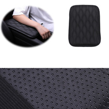 Black Car Armrest Pad Covers Console Center Protection Storage Universal Leather
