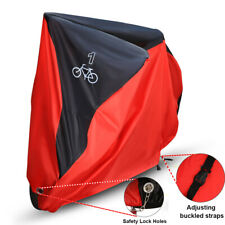 190T Waterproof Bike Bicycle Rain Cover Dust Garage Outdoor Protector Black&Red