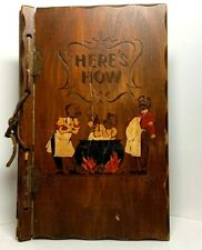 Antique Wooden Book~Here'S How Mixed Drinks~1941~