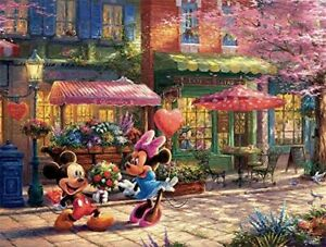 Ceaco The Disney Collection --Mickey & Minnie Sweetheart Cafe Puzzle by T...