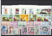 Liberia Cancelled Stamps including old Cars & Trains ref R 18548