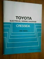 1984 Toyota Cressida 84 Color Coded Chassis Wiring Diagram Chart Guide 84bk 4pgs Ebay