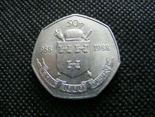 1988 Irish 50p Dublin Millennium Fifty Pence Coin Ireland Commemorative