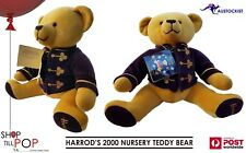"HARRODS CHRISTMAS NURSERY 10"" BEAR 7 - 2000 Embroidered logo Gold and Purple"