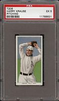 Rare 1909-11 T206 Harry Krause Pitching Piedmont 350 Phila PSA 5 EX