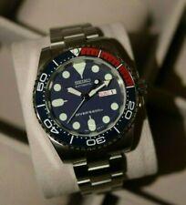 40mm Seiko Pepsi Submariner SKX009 Ceramic Dive Watch Mod Sapphire NH36 Mov't