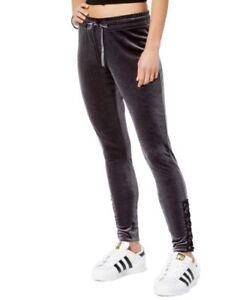 Material Girl Active Juniors' Velour Lace-Up Pants Size M, L