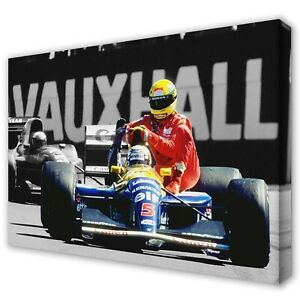 'Taxi for AYRTON SENNA' - NIGEL MANSELL Canvas Print F1 Wall Art Photo ~ 5 Sizes