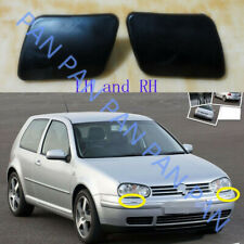 Pair Front bumper Headlight Washer Covers Caps For VW GOLF IV MK4 1998-2006