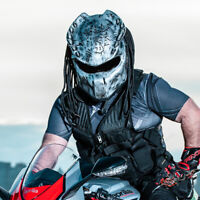Predator Motorcycle Helmet - DOT Approved Alien vs Predator Bike/ Crash Helm