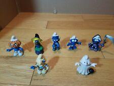Smurfs Halloween Set Of 7 Action Figures - Frankenstein, Reaper, Witch, Pumplin,