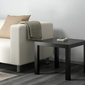 Small Black Coffee Table Side Furniture Living Room Ikea Plastic Lack Tea Breakf