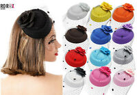 Ro Rox Ruby Rose Net Vintage Retro Pinup 40's 50'#s Fascinator Wedding Party Hat