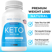 Keto 360 Slim Diet Pills Weight Loss Fat Burner Ultra Fast Pure Keto Boost Burn