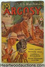 Argosy Feb 05, 1938 Burroughs Carson of Venus 5/6, Woolrich