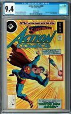 Action Comics #489 CGC 9.4 (Nov 1978, DC) Superman, Atom story, Whitman variant