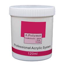 120g Clear Acrylic Powder UV Gel Nail Art Tips Manicure Builder Liquid Set Kits