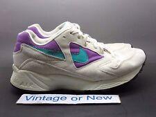 Women's VTG Nike Air Icarus White Purple Teal Running Shoes 1992 sz 8.5