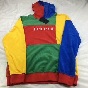 Air Jordan Sport DNA Fleece Pullover Hoodie Multi Color CJ6083-480 Men's Size S