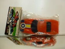 HONG KONG PLASTIC FRICTION RACING CAR - RED L11.0cm - GOOD IN UNOPENED BAG