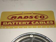 Radsco Battery Cables Sign   - Original Gas/Oil/Automobile Vintage Sign!